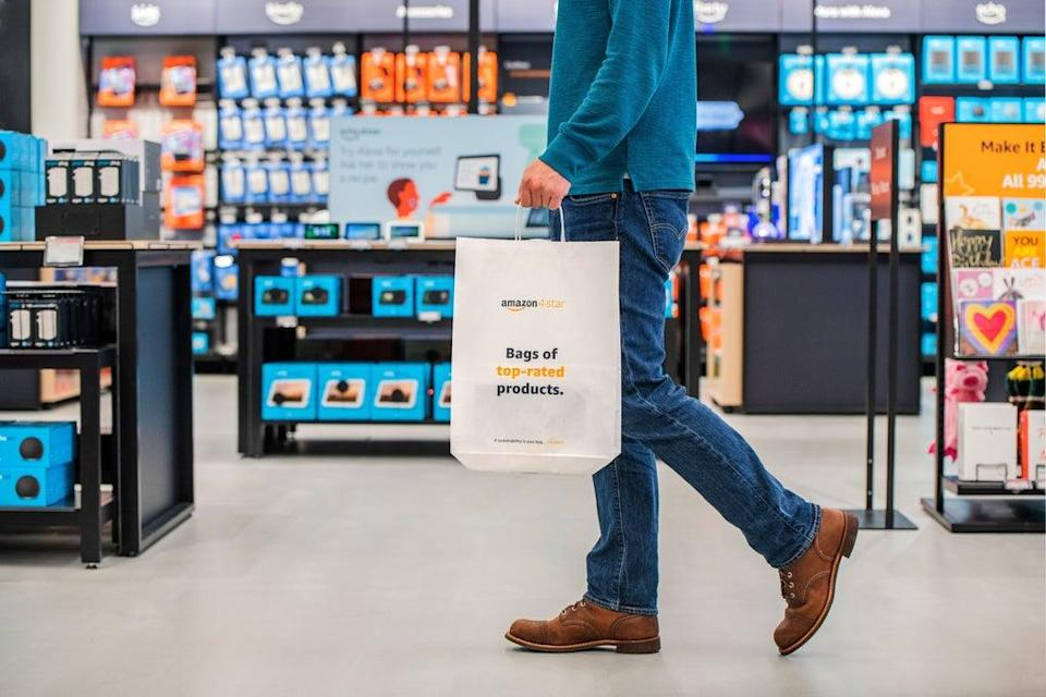 The interior of Amazon's first 4-star store outside of the US (Amazon/PA) (PA Media)