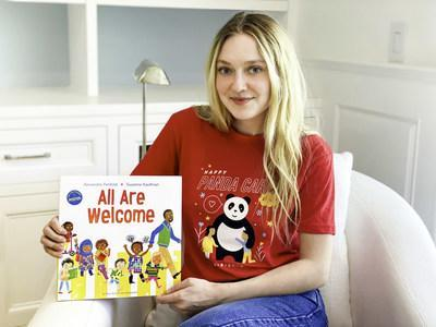 """Actor Dakota Fanning Reads """"All Are Welcome"""" by Author Alexandra Penfold & illustrator Suzanne Kaufman as Part of Panda Cares Day™ Celebration"""