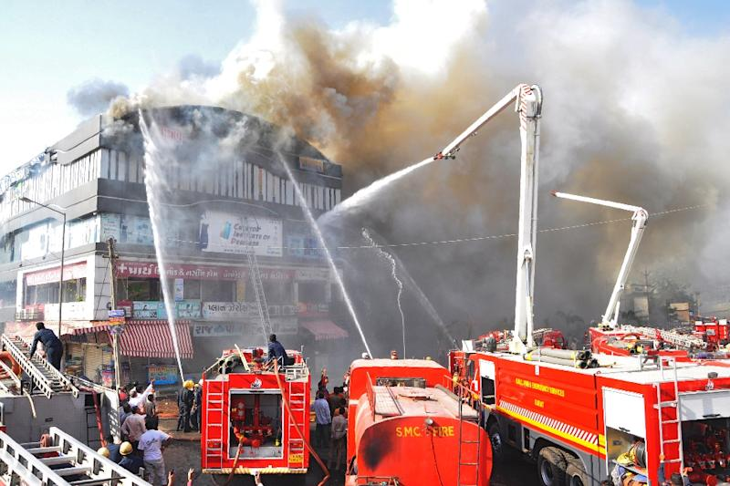 The fire was reportedly caused by a short-circuit in one of the air-conditioning ducts on the ground floor (AFP Photo/STR)