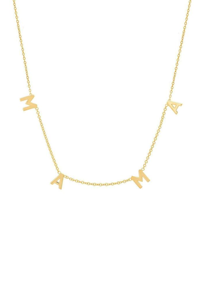 """<p><strong>By Chari</strong></p><p>bychari.com</p><p><strong>$100.00</strong></p><p><a href=""""https://bychari.com/products/the-essential-mama-necklace"""" rel=""""nofollow noopener"""" target=""""_blank"""" data-ylk=""""slk:Shop Now"""" class=""""link rapid-noclick-resp"""">Shop Now</a></p><p>She'll proudly display her new title thanks to this dainty necklace from By Chari, the L.A. brand behind the vote necklace that Michelle Obama had on at the 2020 Democratic National Convention. It's made with a sterling silver base and heavy 14K yellow gold plating, and goes with everything (yes, even <a href=""""https://www.oprahdaily.com/style/g35190652/best-matching-sweatsuits-for-women/"""" rel=""""nofollow noopener"""" target=""""_blank"""" data-ylk=""""slk:sweatsuits"""" class=""""link rapid-noclick-resp"""">sweatsuits</a> and <a href=""""https://www.oprahdaily.com/style/g26325674/best-pajamas-for-women/"""" rel=""""nofollow noopener"""" target=""""_blank"""" data-ylk=""""slk:pajamas"""" class=""""link rapid-noclick-resp"""">pajamas</a>). <br></p>"""