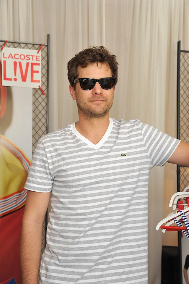 Joshua Jackson attends the Lacoste pool party during the Coachella Music Festival in Thermal, California.
