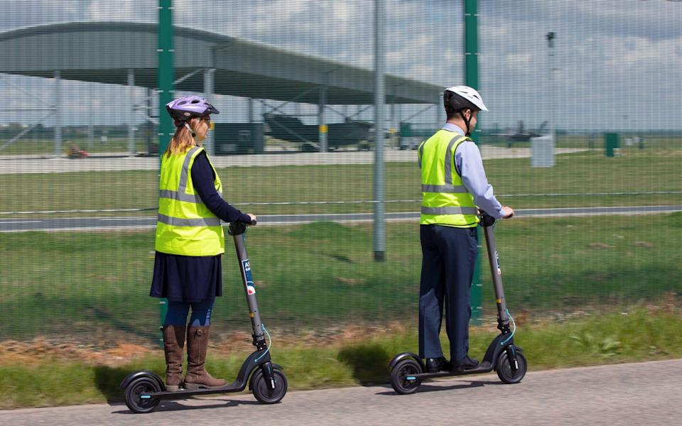 The RAF says it is looking at innovative solutions to work towards a greener future at its bases