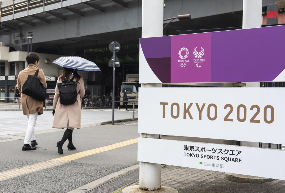 """Organizers said Friday that there is no """"Plan B"""" for the 2020 Olympics in Tokyo this summer despite the massive coronavirus outbreak. (Budrul Chukrut/SOPA Images/LightRocket/Getty Images)"""