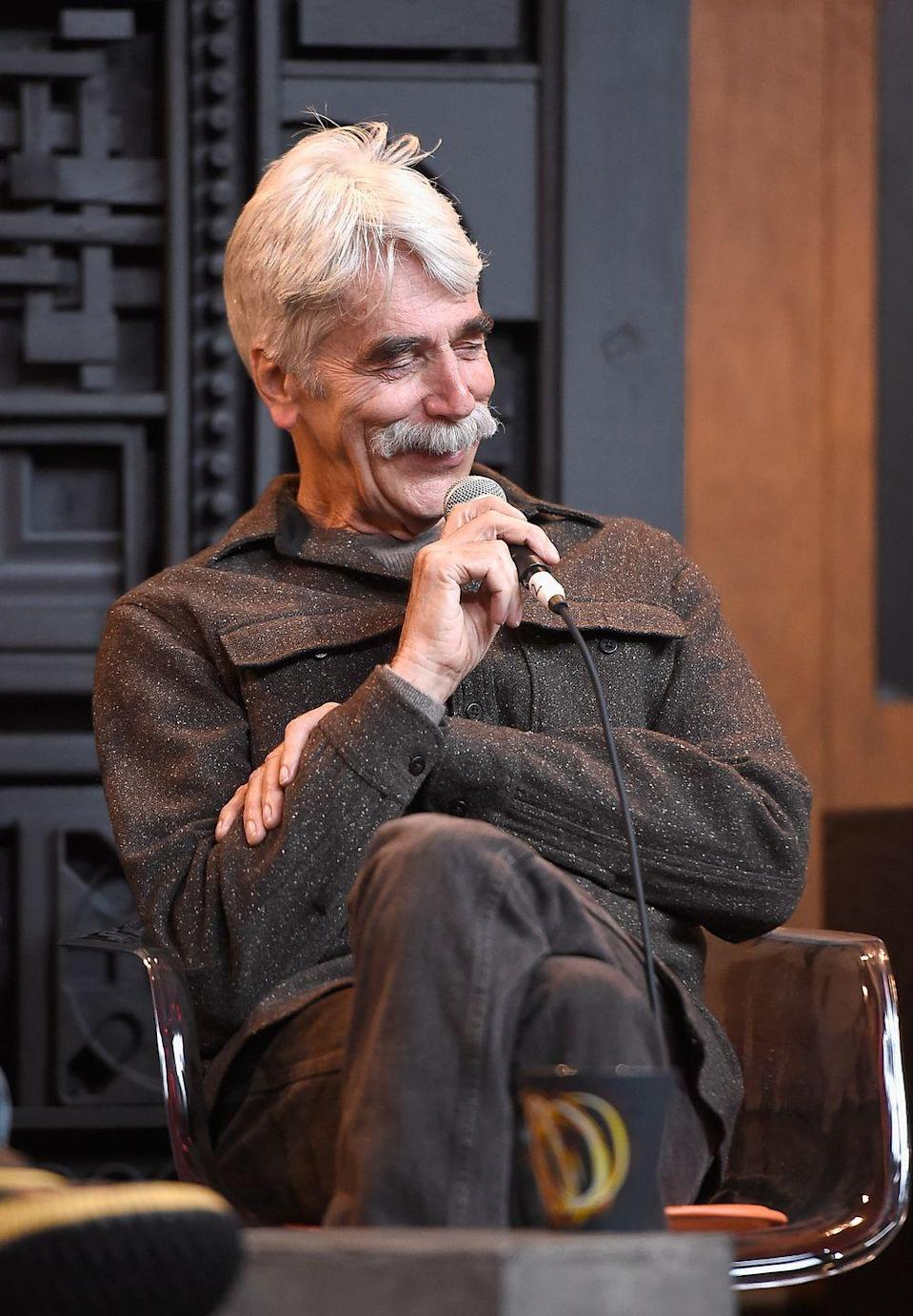 <p>When it comes to men with mustaches, you really can't get more iconic than Sam Elliot. His bushy whiskers have changed shape and color over the years, but even his current gray look commands attention. This is truly a classic in the pantheon of upper lip hair. </p>