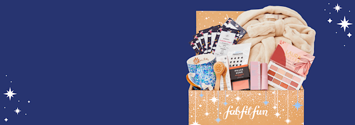 """<p>fabfitfun.com</p><p><strong>$179.99</strong></p><p><a href=""""https://go.redirectingat.com?id=74968X1596630&url=https%3A%2F%2Ffabfitfun.com%2Fget-the-box%2F%23plan%3Dfffvip%26utm_medium%3Daffiliate%26utm_campaign%3Dprospect%26utm_content%3D78888-Skimlinks%26clickid%3D6854_1604083273_7902ef2065e44fe1e47d89ce46aa46e0%26awc%3D6854_1604083273_7902ef2065e44fe1e47d89ce46aa46e0&sref=https%3A%2F%2Fwww.oprahdaily.com%2Flife%2Fhealth%2Fg32098077%2Fself-care-subscription-boxes%2F"""" rel=""""nofollow noopener"""" target=""""_blank"""" data-ylk=""""slk:Shop Now"""" class=""""link rapid-noclick-resp"""">Shop Now</a></p><p>Select at least three items from the eight on offer from a well-rounded Fab Fit Fun box. The options range from beauty products to skincare and even some cozy clothing items to give yourself extra pampering. </p>"""