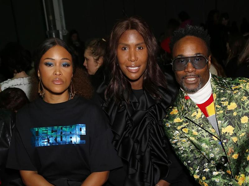 Eve, Honey Dijon and Billy Porter at the Christopher Kane show at London Fashion Week: Photo by Darren Gerrish/WireImage
