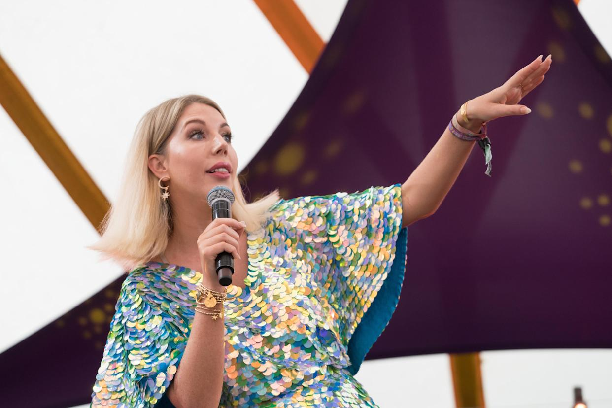 Katherine Ryan performing live on the comedy stage on Day 2 of the 2019 Latitude Festival in Suffolk, UK. Photo date: Saturday, July 20, 2019. Photo credit should read: Richard Gray/EMPICS Entertainment