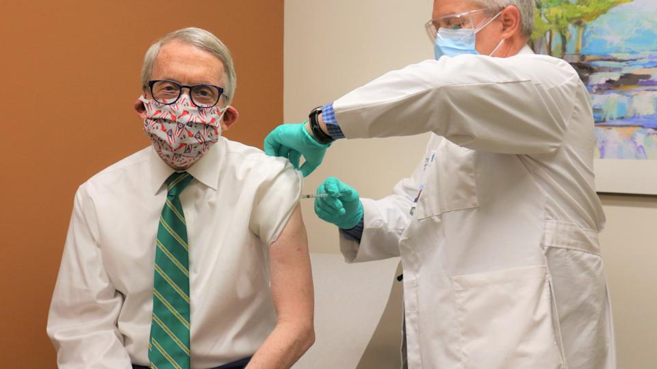 Governor Mike DeWine getting his own vaccine.