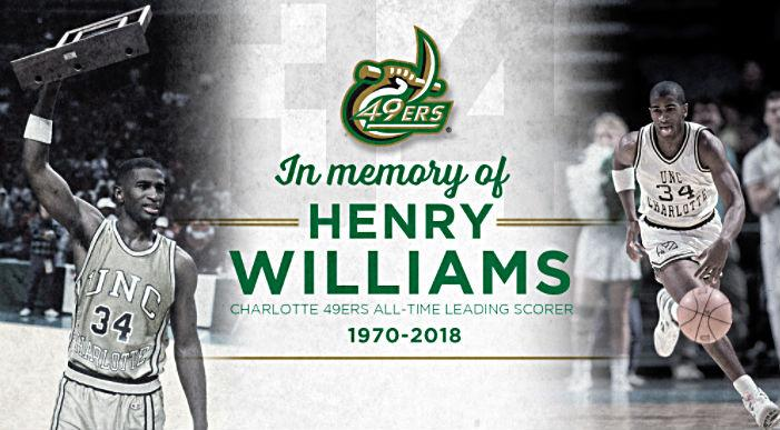 Henry Williams, former Charlotte 49ers star, dies at 47