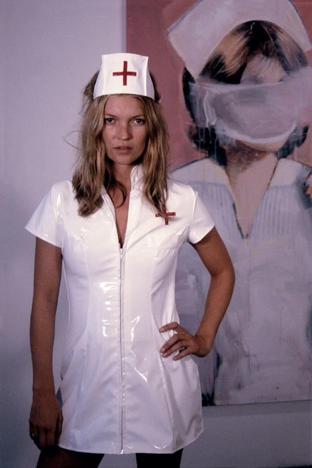 <p>Every Halloween party needs a nurse on standby.</p> <p>Kate Moss photographed by Richard Prince for <em>W</em> magazine, 2003.</p>
