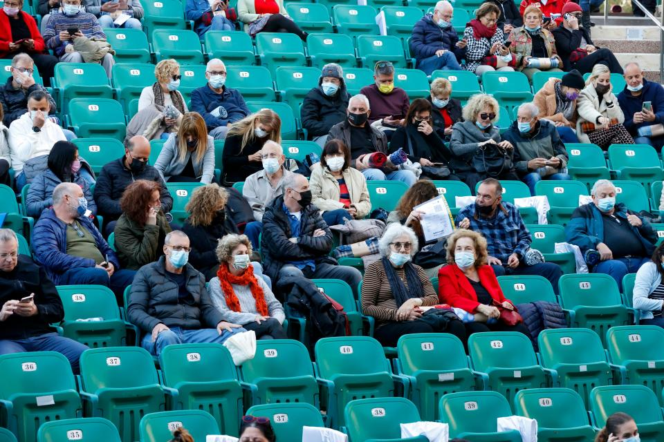 The concert still had strict social distancing rules. (Getty)