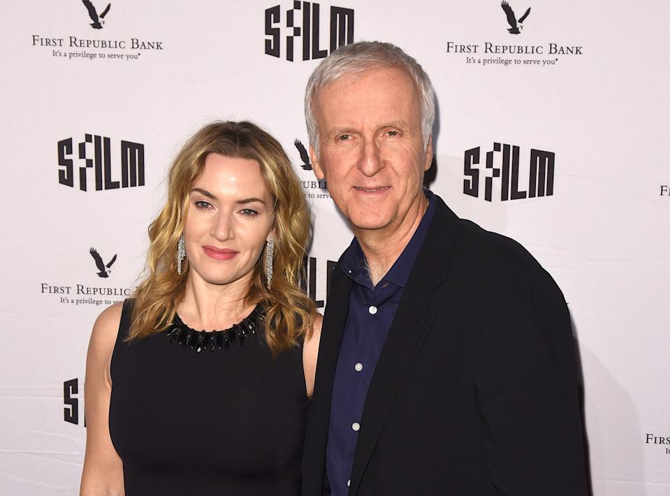 Kate Winslet and Director James Cameron attend SFFILM's 60th Anniversary Awards Night (Photo by C Flanigan/Getty Images)