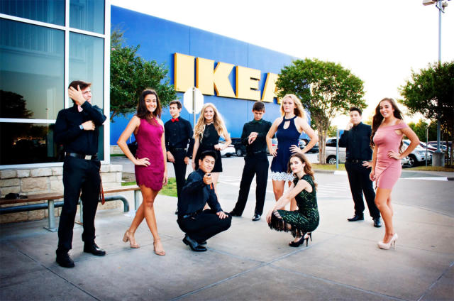 A group of friends decided to take their homecoming photos at IKEA. (Photo: Twitter/meganreese___)