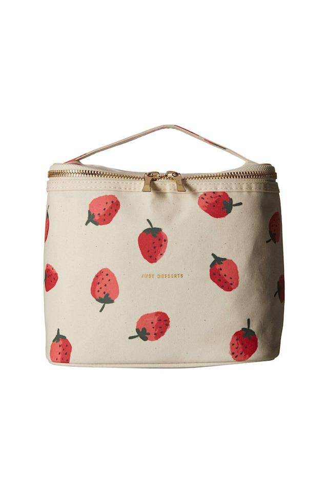 """<p><strong>Kate Spade New York</strong></p><p>macys.com</p><p><strong>$30.00</strong></p><p><a href=""""https://go.redirectingat.com?id=74968X1596630&url=https%3A%2F%2Fwww.macys.com%2Fshop%2Fproduct%2Fkate-spade-new-york-lunch-tote-strawberries%3FID%3D5929250&sref=http%3A%2F%2Fwww.marieclaire.com%2Ffashion%2Fg27793695%2Flunch-bags%2F"""" target=""""_blank"""">SHOP IT </a></p><p>Gift the graduate in your life this adult-like yet still playful lunchbox from Kate Spade. The summertime vibes of the strawberry print will make them look forward to devouring even the saddest of desk sandwiches.   <br></p>"""