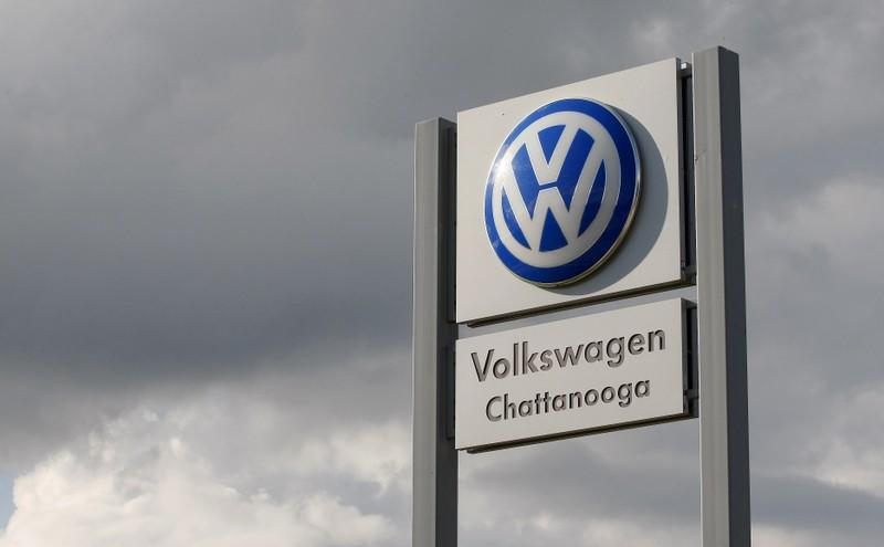 FILE PHOTO: Sign at the Volkswagen Chattanooga Assembly Plant in Chattanooga