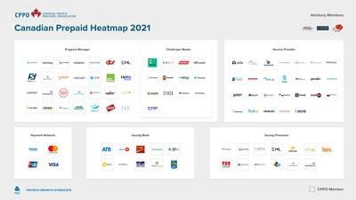 Canadian Prepaid Providers Organization (CPPO) releases 2021 Canadian prepaid heatmap in collaboration with FinTech Growth Syndicate (FGS) (CNW Group/Canadian Prepaid Providers Organization)