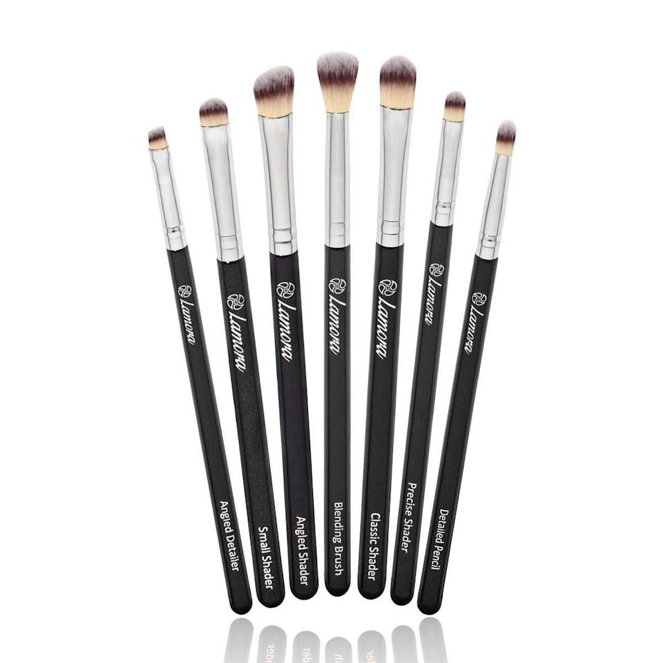 "<p><strong>Star Rating:</strong> 4.6 out of 5</p> <p><strong>Key selling points:</strong> If you find yourself obsessing over intricate eye looks on YouTube or Instagram, this eye shadow brush set deserves a spot in your cart. Whether you're going for a sharp cat eye or a sultry smoky look, these brushes are the answer. </p> <p><strong>What customers say:</strong> ""I can't believe how well these worked. I am going to buy another set very soon. They are very similar to my Sigma brushes that I own, but much more inexpensive. They are really soft and they don't irritate my eyes. If you are thinking about these I would do it! For the price, you can't go wrong."" <em>–</em><a href=""https://amzn.to/3e59TtQ"" rel=""nofollow noopener"" target=""_blank"" data-ylk=""slk:Kaci"" class=""link rapid-noclick-resp""><em>Kaci</em></a></p> $11, Amazon. <a href=""https://www.amazon.com/Makeup-Eye-Brush-Set-Eyeshadow/dp/B00MNMQKPC/ref=sr_1_75"" rel=""nofollow noopener"" target=""_blank"" data-ylk=""slk:Get it now!"" class=""link rapid-noclick-resp"">Get it now!</a>"