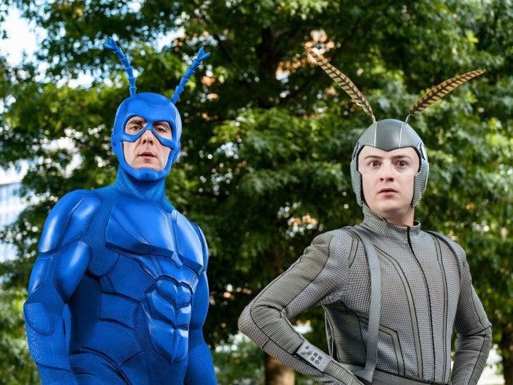 Peter Serafinowicz and Griffin Newman in 'The Tick'Amazon Prime