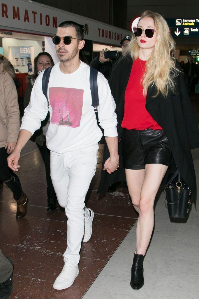 <p>A few months after the dating rumours began to swirl, Jonas and Turner touched down in Paris for their first Fashion Week as a couple.</p>