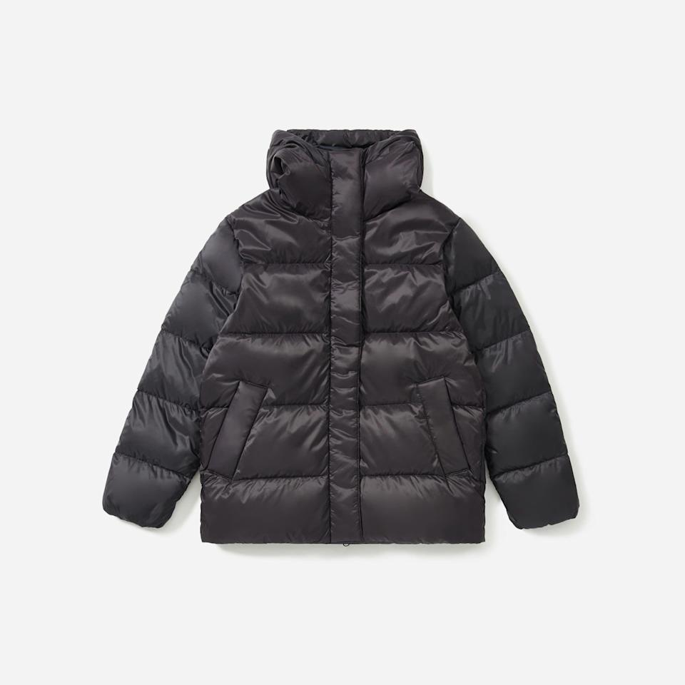 """<p><strong>everlane</strong></p><p>everlane.com</p><p><strong>$168.00</strong></p><p><a href=""""https://go.redirectingat.com?id=74968X1596630&url=https%3A%2F%2Fwww.everlane.com%2Fproducts%2Fwomens-redown-puffy-puff-black&sref=https%3A%2F%2Fwww.townandcountrymag.com%2Fstyle%2Ffashion-trends%2Fg34822978%2Feverlane-cyber-monday%2F"""" rel=""""nofollow noopener"""" target=""""_blank"""" data-ylk=""""slk:Shop Now"""" class=""""link rapid-noclick-resp"""">Shop Now</a></p>"""