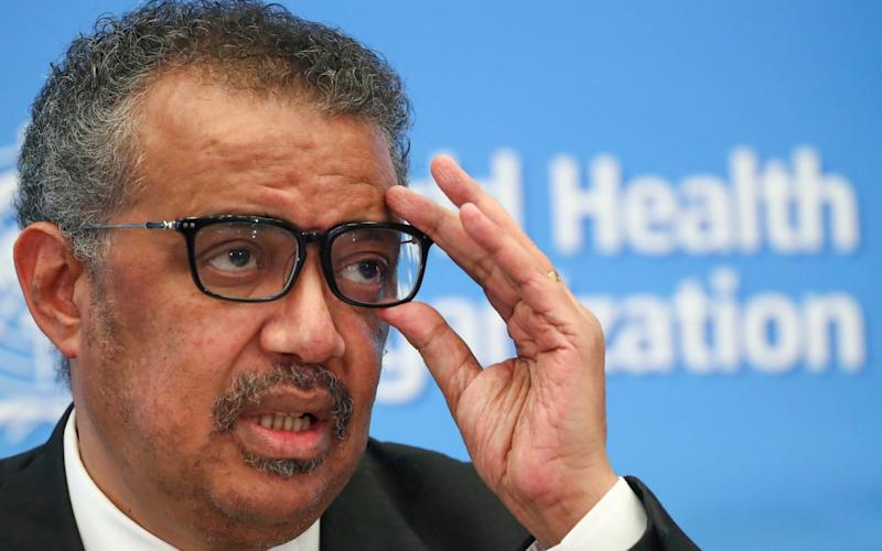 The WHO said Dr Tedros Adhanom Ghebreyesus had never had a phone conversation with Xi Jinping - Denis Balibouse/REUTERS