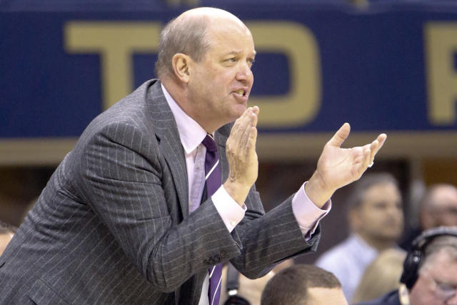 Pittsburgh head coach Kevin Stallings yells to his team as they play against Miami during the first half of an NCAA college basketball game, Saturday, Dec. 30, 2017, in Pittsburgh. (AP Photo/Keith Srakocic)