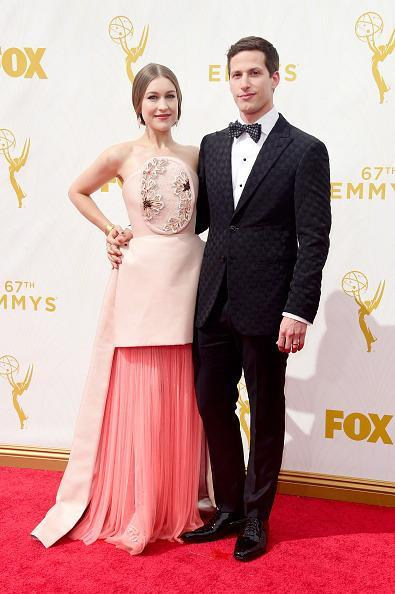 <p>Sure, it's Andy Samberg's night as the host of the broadcast, but his wife Joanna Newsom stole the show on the red carpet in a DelPozo dress. The gown flowed on the bottom but was structured on top, creating a striking dichotomy.<br></p>