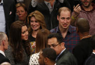 The Duke and Duchess of Cambridge met Jaz-Z and Beyoncé Knowles during a Basketball match between New Jersey Nets and Cleveland Cavaliers in New York during their royal tour there in 2014. (PA Images)