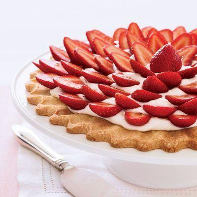 """<p>Simple and stunning.</p><p><em><a href=""""https://www.goodhousekeeping.com/food-recipes/a8818/strawberry-cream-cheese-tart-ghk/"""" rel=""""nofollow noopener"""" target=""""_blank"""" data-ylk=""""slk:Get the recipe for Fresh Strawberry Cream Cheese Tart »"""" class=""""link rapid-noclick-resp"""">Get the recipe for Fresh Strawberry Cream Cheese Tart »</a></em></p>"""