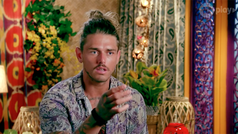 Bachelor In Paradise's Timm Hanly has confirmed he's back with his ex after splitting from co-star Brittany Hockley. Photo: Channel 10.