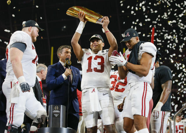 Best sport: football. Trajectory: down. After shooting up the ranks in 2018, the Crimson Tide had a market correction back down 17 spots in '19. Football, the obvious bellcow, was the only fall program to score. There were multiple successes in the winter and spring sports, most notably: softball, both women's and men's track & field, women's gymnastics and men's swimming.