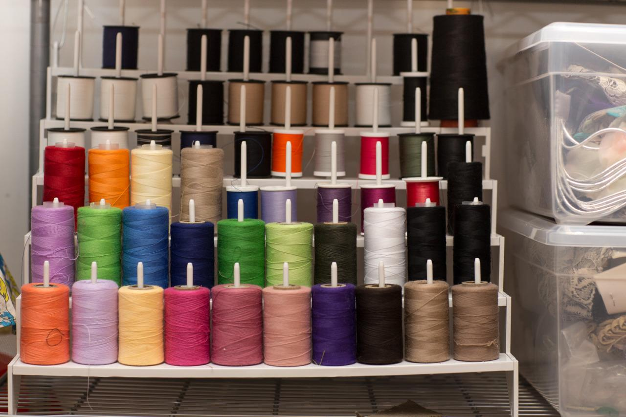 <p>We have stacks on stacks of colorful thread—perfect for heavy stiches, embroidering or needlepointing. We encourage campers to take risks, even if they're minute details.</p>