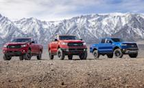 "<p>In its most natural from, the <a href=""https://www.caranddriver.com/ford/ranger"" rel=""nofollow noopener"" target=""_blank"" data-ylk=""slk:Ford Ranger"" class=""link rapid-noclick-resp"">Ford Ranger</a> comes with 270-hp turbocharged four-cylinder with a 10-speed automatic, in either an extended cab or crew cab style. Ford didn't stop there, as they've added three dealer-installed Ford Performance off-road accessory packages that include an off-road tuned Fox suspension, 17-inch Dyno Gray wheels, and Ford Performance decals on the windshield and rear fenders<strong>.</strong> These packages pickup where the Ranger FX4 left off. The FX4 gives the Ranger FX4 tweaks the suspension, adds off-road tires, skid plates, a locking rear differential, Trail Control and Ford's Terrain Management System. Get a little dirtier with the Level 1 package for $2495 before installation, the Level 2 costs $4495, and the fully loaded Level 3 costs $8,995.</p>"
