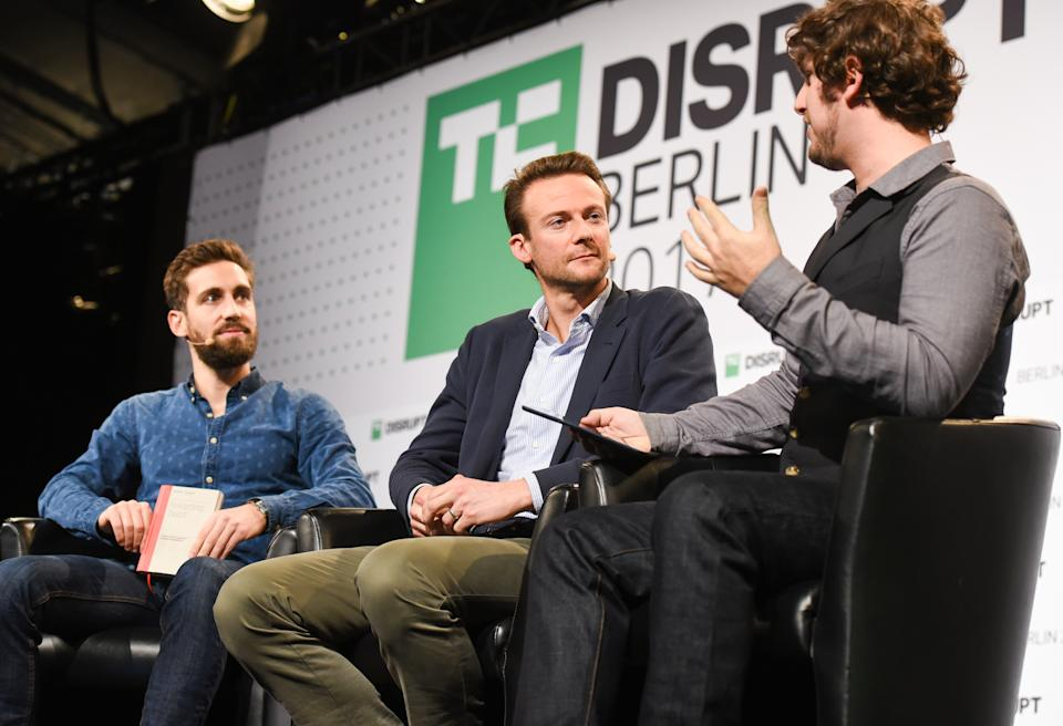 BERLIN, GERMANY - DECEMBER 04:  (L-R) Martin Mignot and Jan Hammer of Index Ventures speak at TechCrunch Disrupt Berlin 2017 at Arena Berlin on December 4, 2017 in Berlin, Germany.   (Photo by Noam Galai/Getty Images for TechCrunch)
