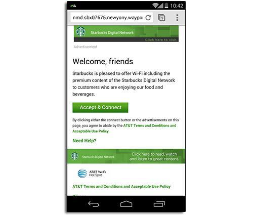 Phone displaying Terms of Agreement page