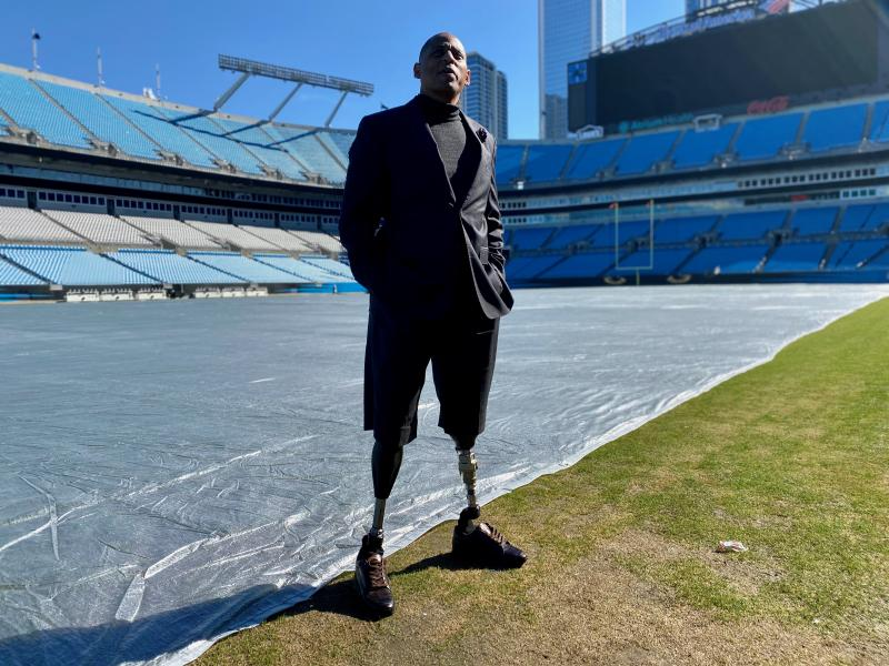 1st Sgt. Cedric King lost both legs while serving in Afghanistan. Somehow, he says, his life is better because of it.