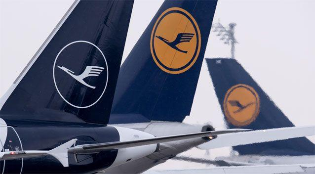 Lufthansa changed their iconic yellow logo to a white one in February. Source: Getty Images