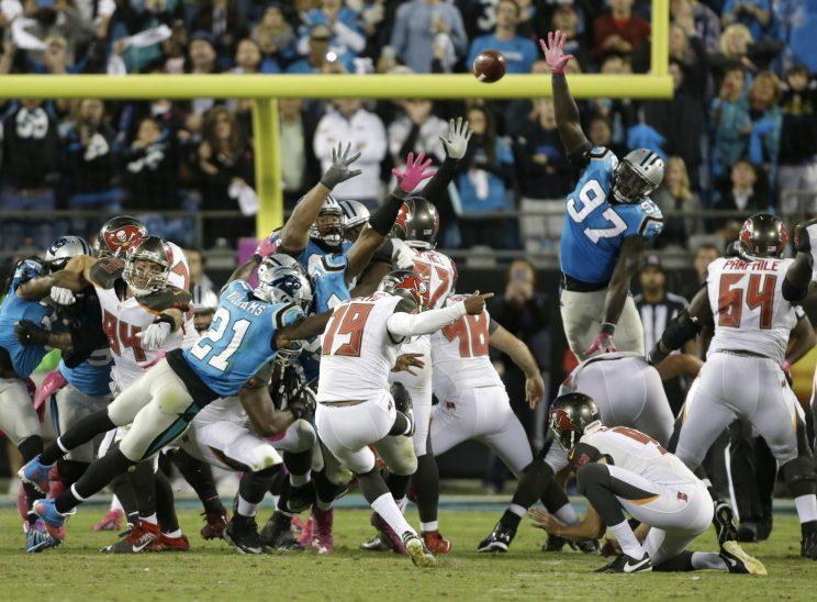 Roberto Aguayo shook off two misses to hit the game-winning kick for the Buccaneers (AP)