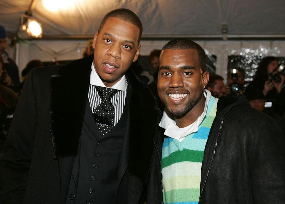 """<p>Jay-Z eventually addressed the feud in 2017, breaking his silence about his relationship with Kanye in an interview with <em><a href=""""https://www.nytimes.com/interactive/2017/11/29/t-magazine/jay-z-dean-baquet-interview.html"""" rel=""""nofollow noopener"""" target=""""_blank"""" data-ylk=""""slk:The New York Times"""" class=""""link rapid-noclick-resp"""">The New York Times</a>. </em>""""It's a complicated relationship with us. Kanye came into this business on my label. So I've always been like his big brother,"""" he said. """"And we're both entertainers. It's always been like a little underlying competition with your big brother ... But it's gonna, we gonna always be good.""""</p>"""