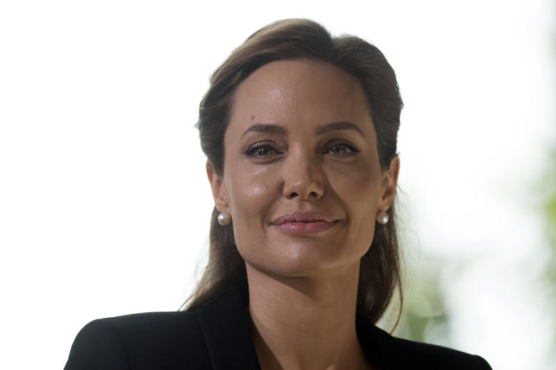 US actress and special UN envoy Angelina Jolie, seen at a humanitarian summit in London on June 12, 2014 (AFP Photo/Carl Court)
