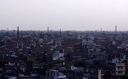 Chimneys of leather tanneries are seen in Kanpur, India, May 3, 2018. Picture taken May 3, 2018. REUTERS/Adnan Abidi