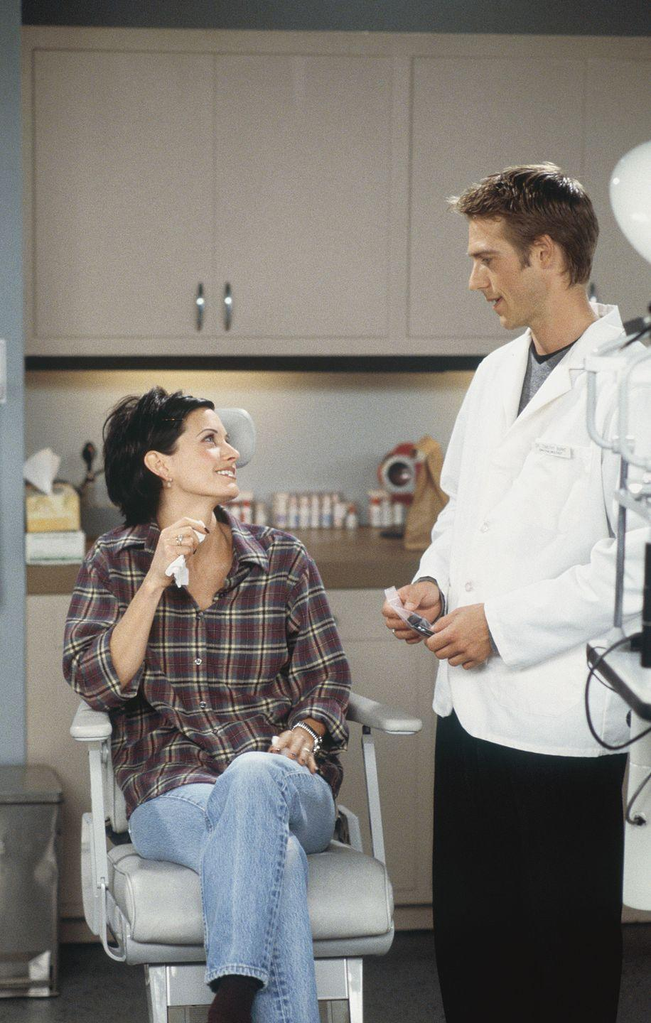 <p>Before his breakout role in <em>Never Been Kissed</em>, Michael Vartan guest-starred on the show as Dr. Tim Burke, the son of Monica's ex-boyfriend, who she begins to date.</p>