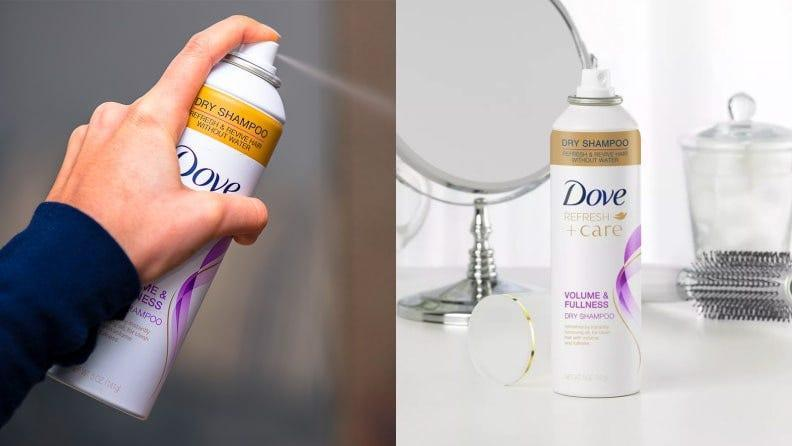 Keep your strands squeaky-clean all trip long with Dove dry shampoo.