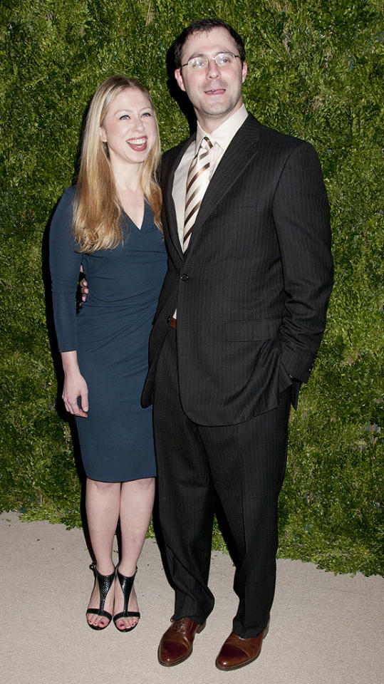 Ninth Annual CFDA/Vogue Fashion Fund Awards in NYC.Center 548, NYC Pictured: Chelsea Clinton, Mark Mezvinsky  Ref: SPL458354  131112  Picture by: Janet Mayer / Splash News   Splash News and Pictures Los Angeles:310-821-2666 New York:212-619-2666 London:870-934-2666 photodesk@splashnews.com