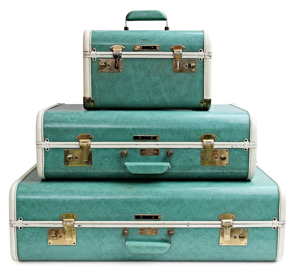 """<p>As air, rail, and ship travel took off in the 1950s, so did luggage sales. This trio of hard-sided suitcases hails from that golden era, when green marble finishes were all the rage. """"Made by Towncraft, a J.C. Penney house brand, this set copies a Samsonite design, which was then one of the leaders of the industry,"""" explains appraiser Helaine Fendelman. Single cases aren't worth much more than their original 1950s price (about $25). But because these are in good condition (no stains, tears, or undesirable smells lurking inside) and are a matched set, they go for a tidy sum. </p><p><strong>What it's worth: </strong>$175 for the set</p>"""