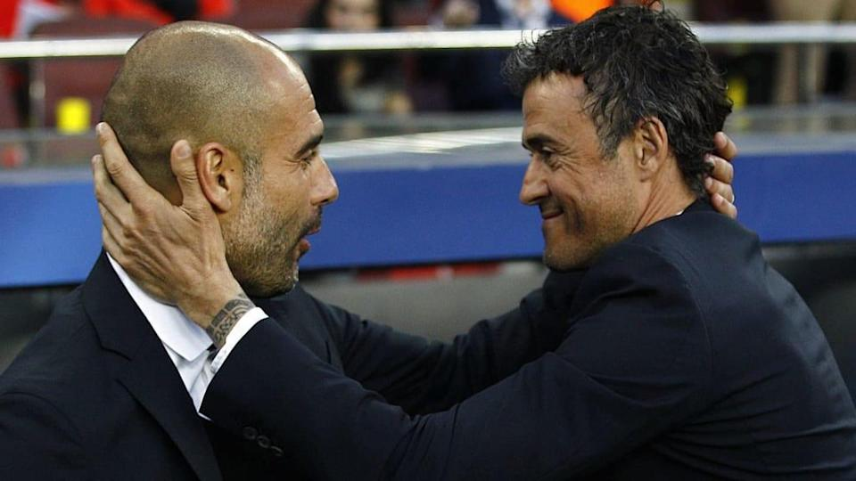 Guardiola e Luis Enrique | QUIQUE GARCIA/Getty Images