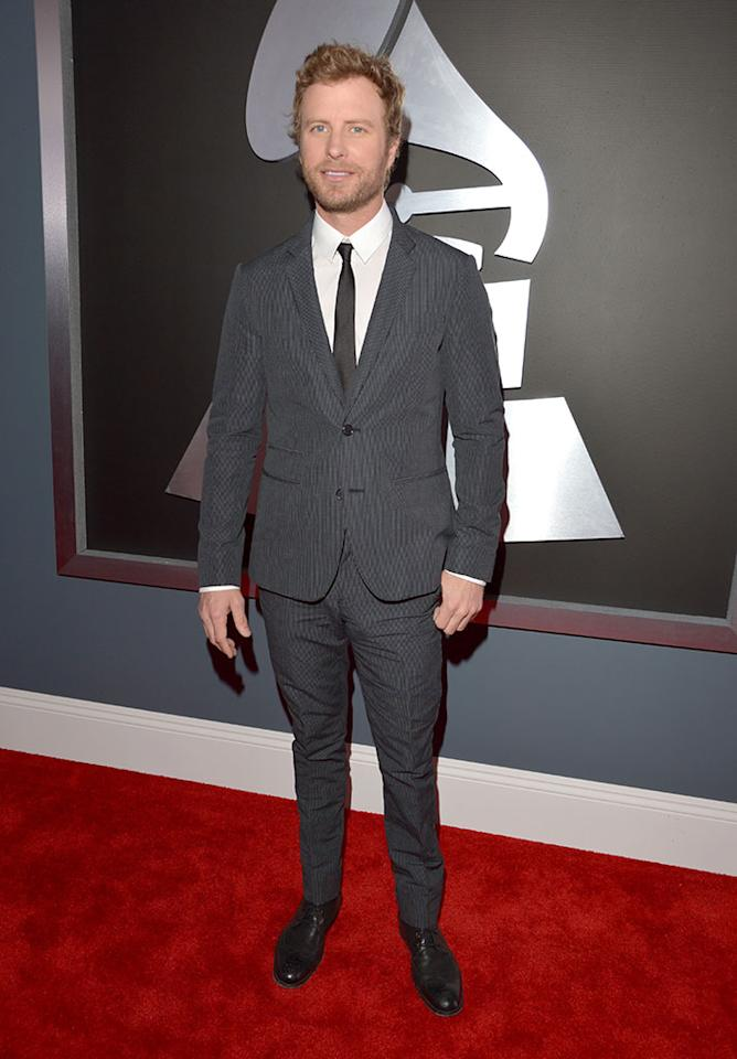 Dierks Bentley arrives at the 55th Annual Grammy Awards at the Staples Center in Los Angeles, CA on February 10, 2013.