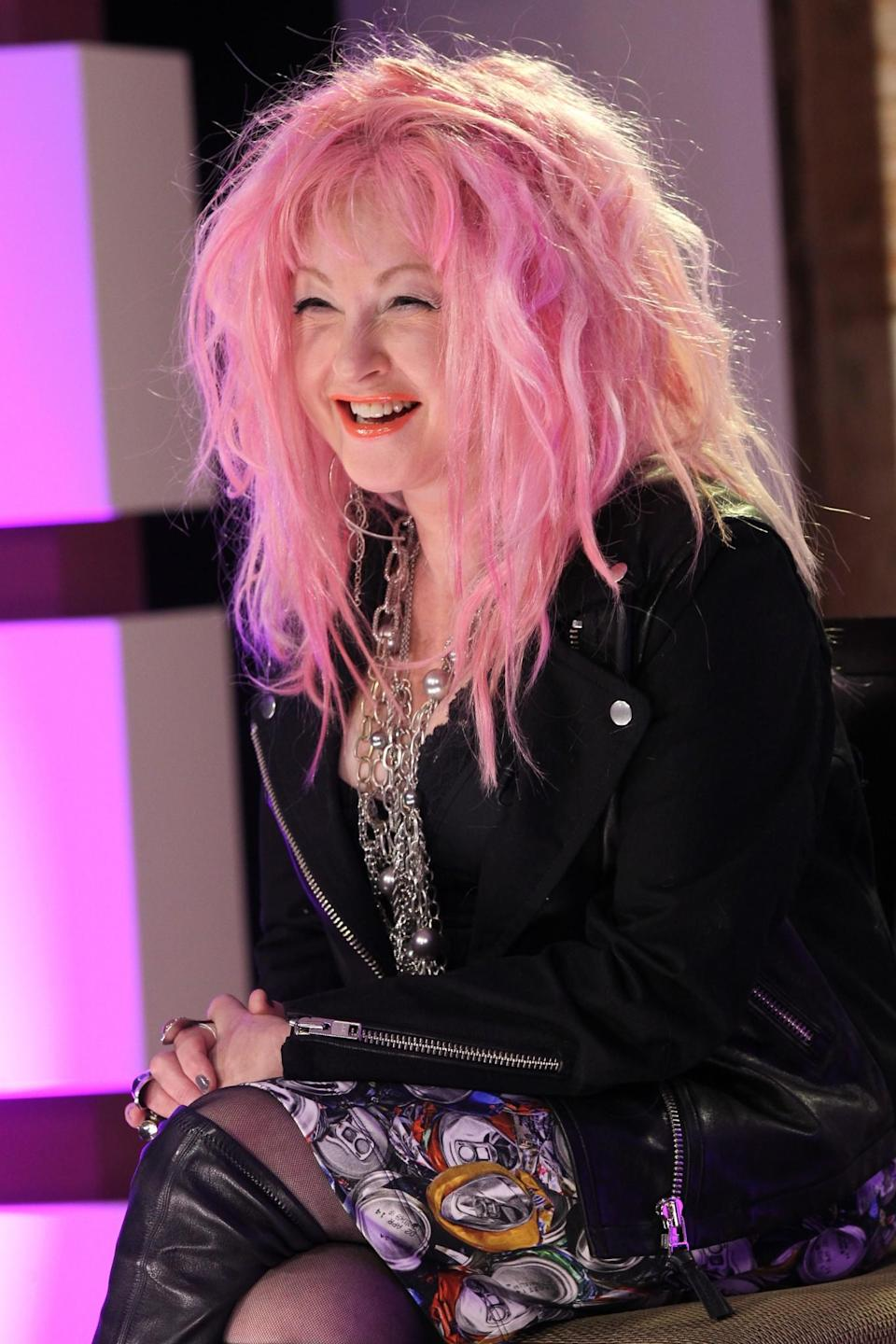 <p>The <i>Girls Just Want to Have Fun</i> singer Cyndi Lauper was the first female winner of the Tony Award for Best Musical. She was given the award in 2013 for her musical, <i>Kinky Boots</i>. Her eclectic style has never wavered (in fact, she's currently sporting a wild pink do), ensuring she will forever be remembered as a musical icon. <i>[Photo: Getty]</i> </p>