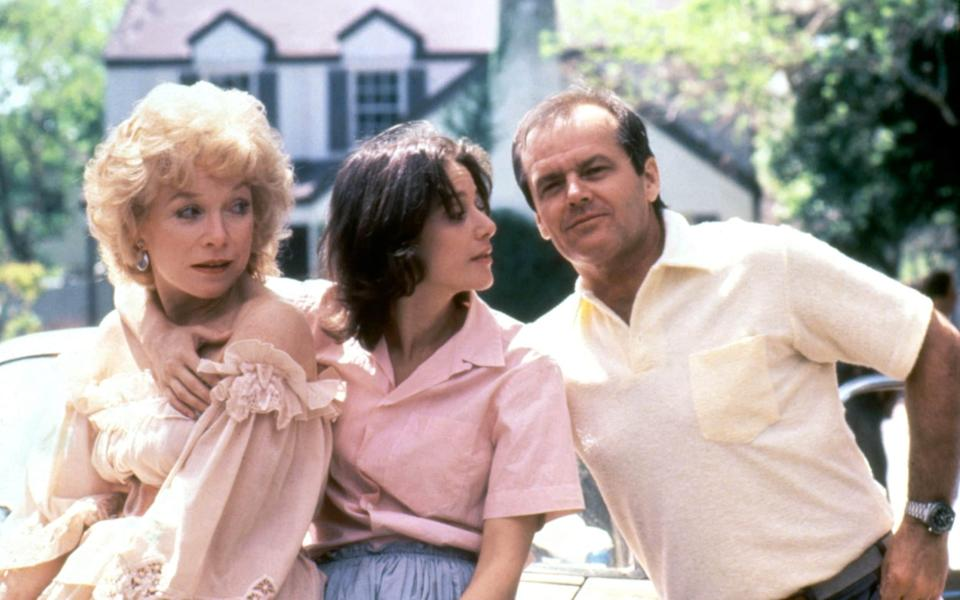 Shirley MacLaine, Debra Winger and Jack Nicholson in the 1983 film Terms of Endearment - Corbis Historical