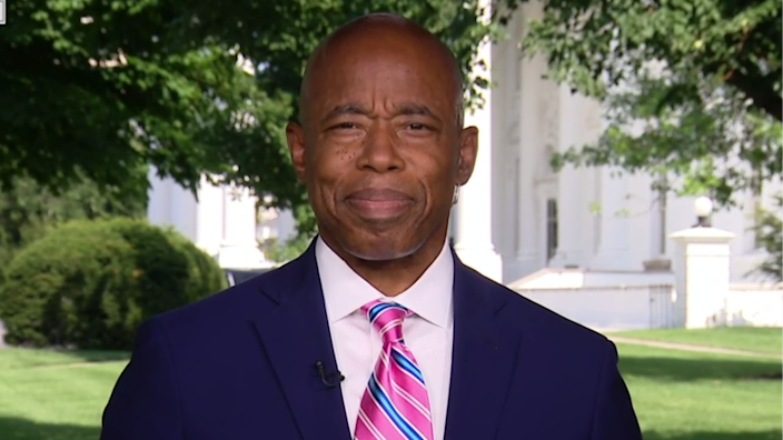 Eric Adams, New York's Democratic nominee for mayor, speaks to CBSN after a meeting with President Biden and other leaders at the White House on July 12, 2021. / Credit: CBS News